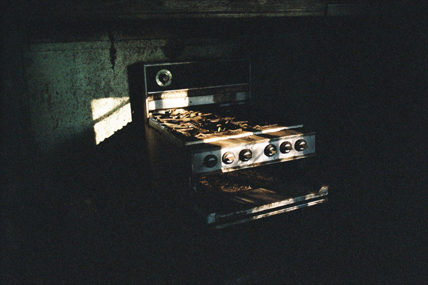 Rusty Stove in Abandoned House