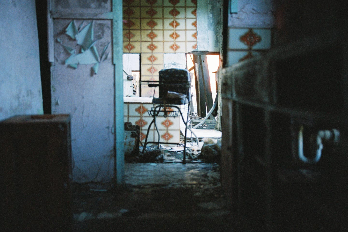 Children's High Chair in Abandoned House